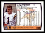 1999 Topps #156  Gary Anderson  Back Thumbnail