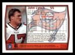 1999 Topps #228  John Lynch  Back Thumbnail