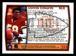 1999 Topps #244  Donnie Edwards  Back Thumbnail