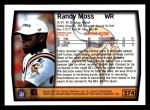 1999 Topps #274  Randy Moss  Back Thumbnail