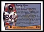 1999 Topps #318   -  Randy Moss Season Highlights Back Thumbnail
