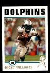 2004 Topps #120  Ricky Williams  Front Thumbnail