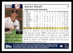 2005 Topps Update #31  Aaron Small  Back Thumbnail