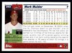 2005 Topps Update #84  Mark Mulder  Back Thumbnail