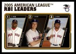 2005 Topps Update #137   -  David Ortiz / Mark Teixeira / Manny Ramirez AL RBI Leaders Front Thumbnail
