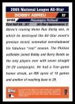 2005 Topps Update #185   -  Bobby Abreu All-Star Back Thumbnail