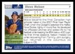 2005 Topps Update #263  Steve Nelson   Back Thumbnail
