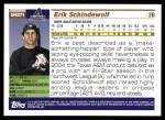 2005 Topps Update #271  Erik Schindewolf   Back Thumbnail
