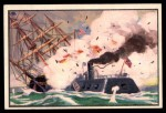 1954 Bowman U.S. Navy Victories #45   Merrimac Rams the Cumberland Front Thumbnail