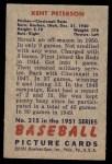 1951 Bowman #215  Kent Peterson  Back Thumbnail