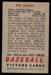 1951 Bowman #153  Rex Barney  Back Thumbnail