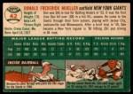 1954 Topps #42 WHT Don Mueller  Back Thumbnail