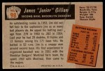 1955 Bowman #98  Jim Gilliam  Back Thumbnail