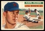 1956 Topps #322  Karl Olson  Front Thumbnail