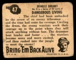 1950 Topps Bring Em Back Alive #47   Jungle Drums Back Thumbnail