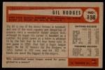 1954 Bowman #138 1B Gil Hodges  Back Thumbnail