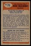 1955 Bowman #75  Hugh McElhenny  Back Thumbnail