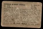 1952 Bowman Small #11  Barney Poole  Back Thumbnail