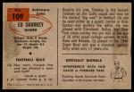 1954 Bowman #109  Ed Sharkey  Back Thumbnail