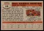 1956 Topps #19  Bill Howton  Back Thumbnail