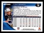 2010 Topps #30  Tom Brady  Back Thumbnail