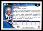 2010 Topps #96  Aaron Hernandez  Back Thumbnail