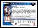 2010 Topps #163  Ahmad Bradshaw  Back Thumbnail
