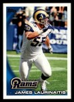 2010 Topps #283  James Laurinaitis  Front Thumbnail