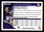 2010 Topps #296  Anquan Boldin  Back Thumbnail