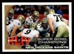 2010 Topps #346   Super Bowl Champions Front Thumbnail