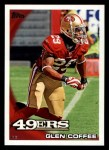 2010 Topps #426  Glen Coffee  Front Thumbnail