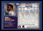 2000 Topps #60  Randy Moss  Back Thumbnail