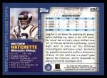 2000 Topps #282  Matthew Hatchette  Back Thumbnail