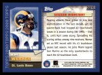 2000 Topps #321   -  Kurt Warner  Highlights Back Thumbnail