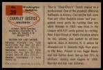 1954 Bowman #39  Charley Justice  Back Thumbnail