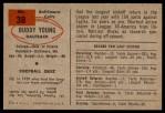 1954 Bowman #38  Buddy Young  Back Thumbnail