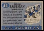 1955 Topps #46  Arnie Lassman  Back Thumbnail