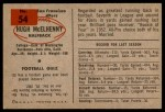 1954 Bowman #54  Hugh McElhenny  Back Thumbnail