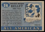 1955 Topps #26  Larry Kelley  Back Thumbnail
