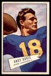 1952 Bowman Large #55  Andy Davis  Front Thumbnail