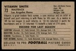 1952 Bowman Large #73  Vitamin Smith  Back Thumbnail