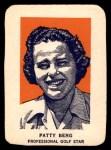 1952 Wheaties #3 POR Patty Berg  Front Thumbnail