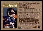 1996 Topps #27  Thomas Randolph  Back Thumbnail