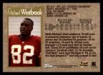1996 Topps #57  Michael Westbrook  Back Thumbnail