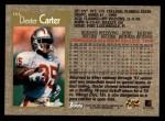 1996 Topps #164  Dexter Carter  Back Thumbnail