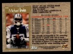 1996 Topps #410  Michael Irvin  Back Thumbnail