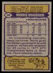 1979 Topps #28  Morris Bradshaw  Back Thumbnail