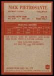1965 Philadelphia #66  Nick Pietrosante   Back Thumbnail
