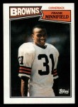 1987 Topps #92  Frank Minnifield  Front Thumbnail