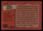 1987 Topps #167  Brad Budde  Back Thumbnail